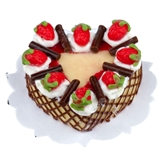 Strawberry Lattice Heart Cake