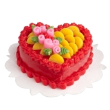 Fruity Rose Heart Cake