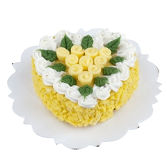 Yellow Rose Heart Cake