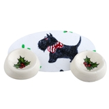 Three Piece Christmas Doggie Dinner Set