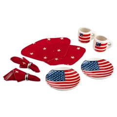 Stars and Stripes Table Setting for Two