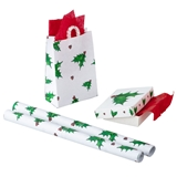 4-Pc. Christmas Holly Gift Wrap Set