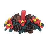 Poinsettia and Pinecone Centerpiece