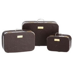 Three Leather Suitcases