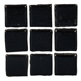 Black Glass Mosaic Tile Sheet