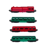 4-Pc MiniTrack Holiday Locomotive and Passenger Cars Set