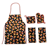 4-Pc. Candy Corn Apron Set