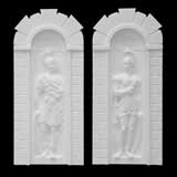 Pair of Roman Solider Niches