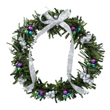 Silver and Jewel-Tone Wreath