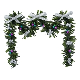 Silver and Jewel-Tone Fireplace Garland