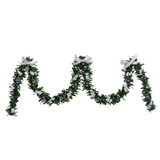 Silver and Jewel-Tone Stairway Garland