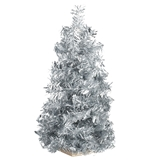 Retro Silver Tinsel Ultimate Christmas Tree