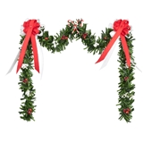 Red and White Candy Cane Fireplace Garland