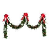 Red and White Candy Cane Stairway Garland