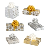 6 Silver and Gold Wrapped Presents