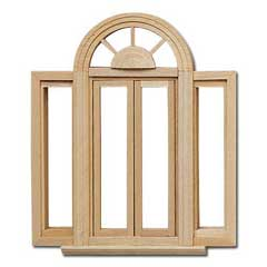 1/2 inch Scale Double Casement Palladian Window