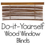 Do-It-Yourself Wood Window Blinds
