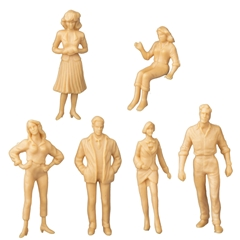 6 Assorted 1/24 Scale Figures