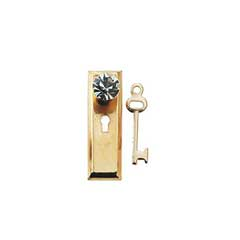Crystal Classic Doorknob w/Key by Houseworks