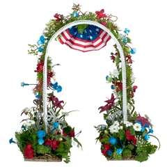 Red, White and Blue Arbor