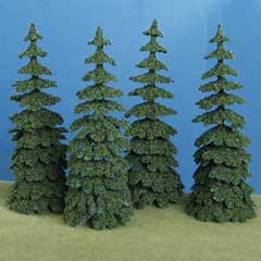 Four Douglas Fir Trees