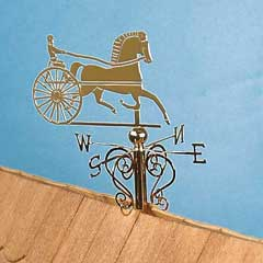 Trotter Weather Vane by Clare-Bell® Brass Works