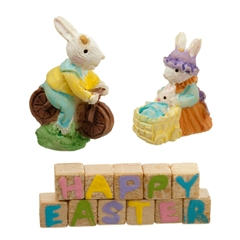 4-Pc. Easter Blocks and Bunnies Set