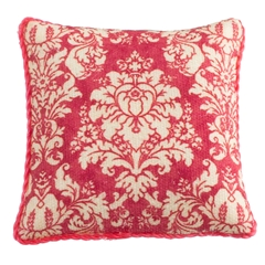 Coral French Damask Pillow