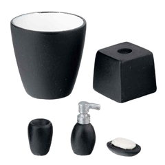 5-Pc. Black Bath Accessory Set