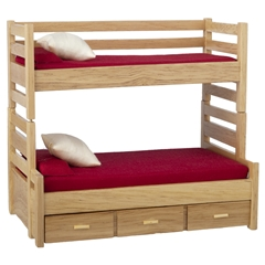Oak Bunk Beds with Trundle