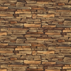 Rustic Stacked Stone Wallpaper