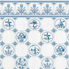 Dutch-Look Tile Wallpaper