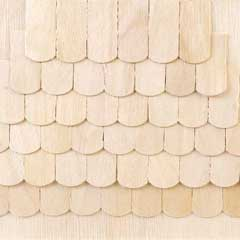 Fishscale Birch-Veneer Shingles