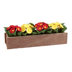Red and Yellow Daisies Window Box