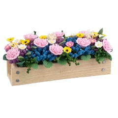 Carnations and Daisies Window Box