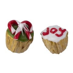 "Candy Cane and ""Joy"" Cupcakes"