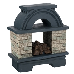 Arched Outdoor Fireplace