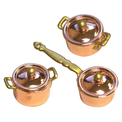 6-Pc. Copper Kitchen Set (Pots and Pans)