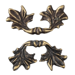 Pair of Oak Leaf Pulls