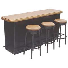 Counter with Three Stools