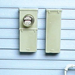 Electric Meter with Main Fuse Box