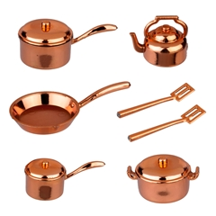 10-Pc. Copper Cookware Set
