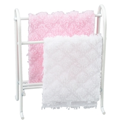 White Towel Rack with Towels