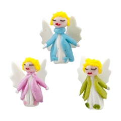 Three Pastel Micro Mini Angels