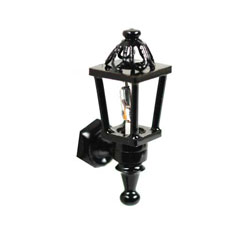 1/2 inch Scale Black Coach Lamp