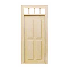 1/2 inch Scale Traditional 4-Panel Exterior Door