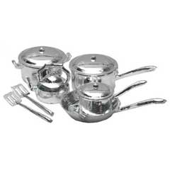 10 Pc Chrome Cookware Set