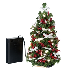Red and silver lighted christmas tree - Christmas tree silver and red ...
