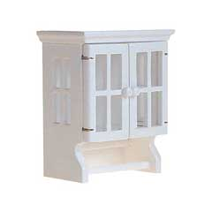 white cabinet with towel bars