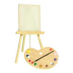 Artist's Easel and Palette